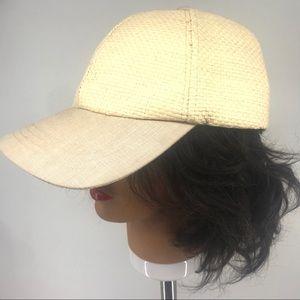 Accessories - 2/$10 Cream Wicker Baseball Cap